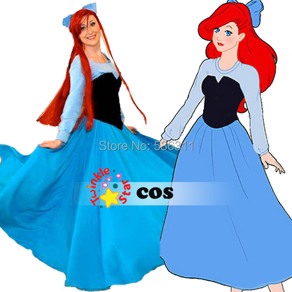 sexy costumes for women The little Mermaid adult Princess Ariel dress Cosplay Costumes Princess dress Halloween costume princess ariel dress halloween costumes fancy the little mermaid ariel cosplay costume mermaid costume green party dress