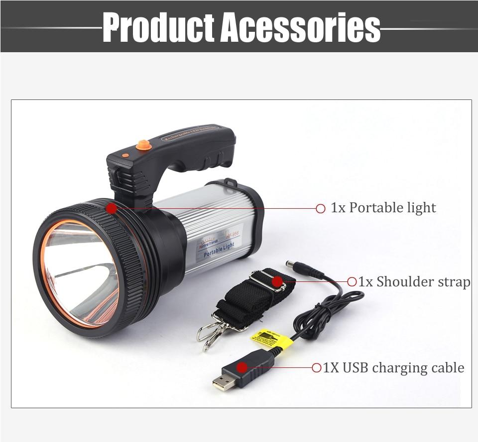 HTB1NW21azDuK1RjSszdq6xGLpXaq - Super Bright LED Portable Light(Built-in 9000mA li-ion Battery)+USB Chaging cable+ Shoulder Strap Black/Silver/Gold Color Option