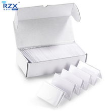 Free shipping 20pcs plastic CR80 MIFARE Plus S 4K (4byte UID) blank card for security system