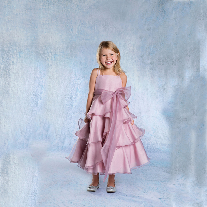 Oganza First Communion Dresses for Girls A-Line Mother Daughter Dress with Sashes Ankle-Length Flower Girl Dresses for Weddings цена и фото