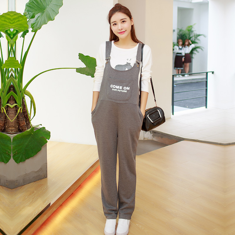 Autumn Suspender Trousers For Pregnant Women Bib Pants Maternit Jumpsuits Rompers Maternity Overalls M-2XL Pregnant Pants Y778 summer men s casual loose denim jumpsuits overalls bib pants light blue cargo pants plus size gardener capris size xs 5xl