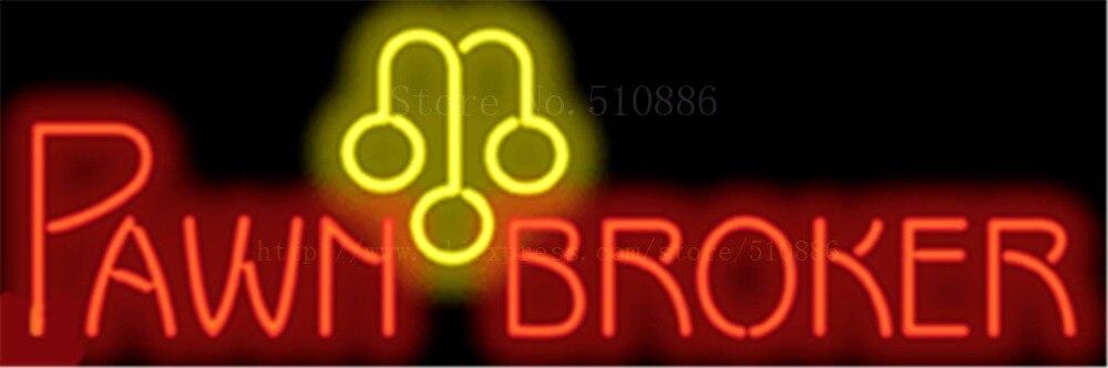 "Intellective Pawnbroker Neon Sign Echt Glas Bier Bar Pub Licht Borden Display Accessoire Games Pandjeshuis Uitwisseling Reclame Licht 17*14"""
