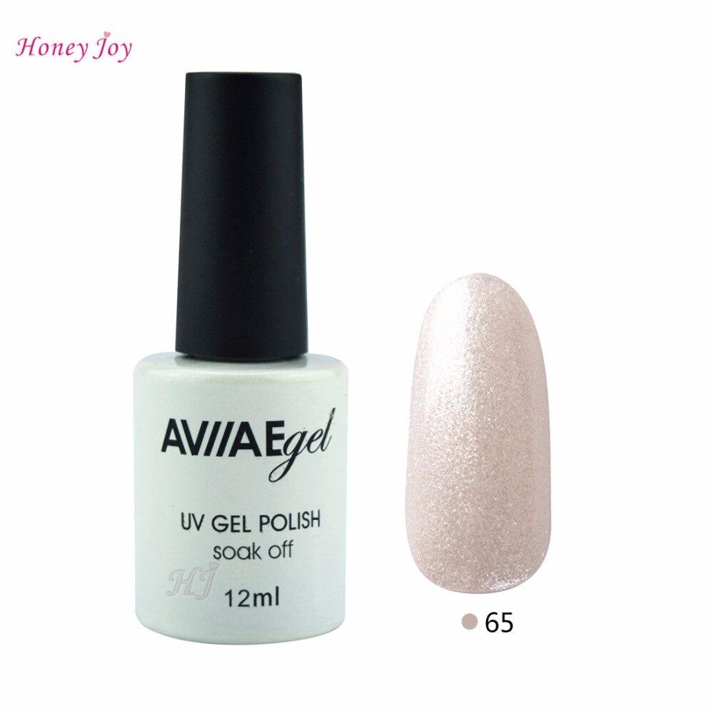 AVIIAE Shining Sparkle as Pearl White Gel Nail Polish Long-Lasting Soak-off LED