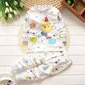 Crianças pijamas roupa interior de algodão roupa dos miúdos treino fivela ombro do bebê meninas meninos define vestuário família roupas combinando