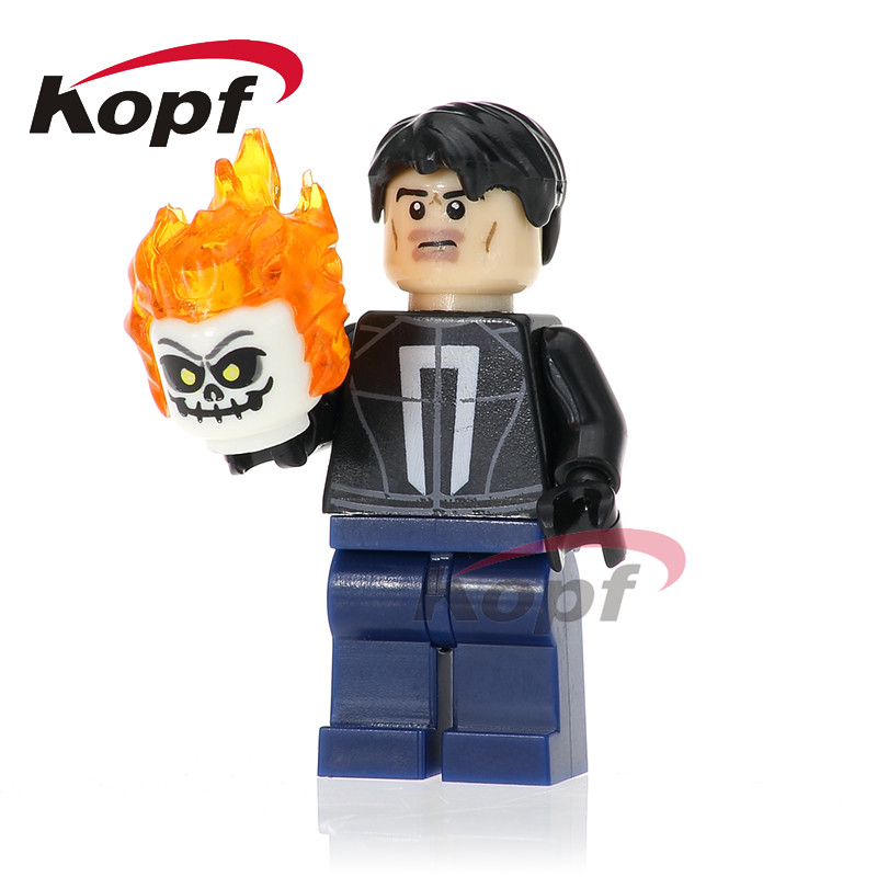 Single Sale Ghost Rider Matt Murdoch Homecoming Spider-Man Spiderman Super Heroes Building Blocks Best Children Gift Toys PG261