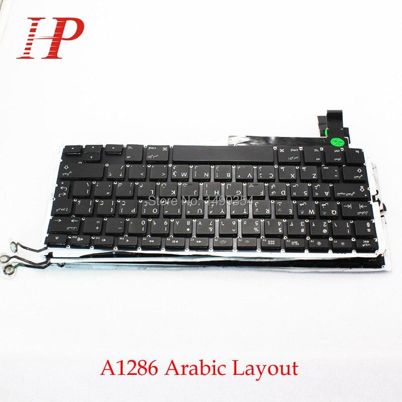 Genuine A1286 AR Arabic Keyboard With Backlight For Apple Macbook Pro 15 A1286 Keyboard Arabic Standard 2009-2012
