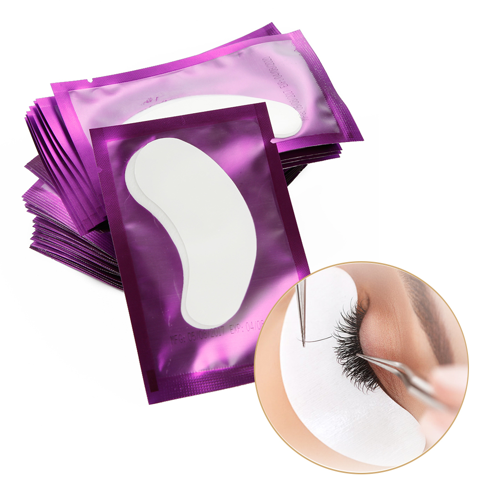 500 Pairs Eyelash Extension Paper Patches Lint Free Eye Tips Sticker Wraps Under Eye Pillow Pads Lashes Make Up Tools Wholesale