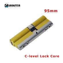 LANXSTAR противоугонной блокировки двери C Класс медный цилиндр дверь с замком Core 95 мм C уровня цилиндры с 8 шт латунные ключи