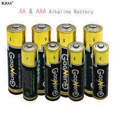 GQYM 4pcs AA Alkaline Battery 5 LR6# + 4pcs AAA Alkaline Battery 7# LR03 Alkaline Dry Battery 1.5V For Toys Camera