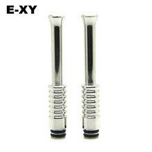 E-XY, длина 65 мм, нержавеющая сталь, капельный наконечник 510, капельный наконечник, распылитель, мундштук, металлический капельный наконечник, подходит для электронной сигареты 510