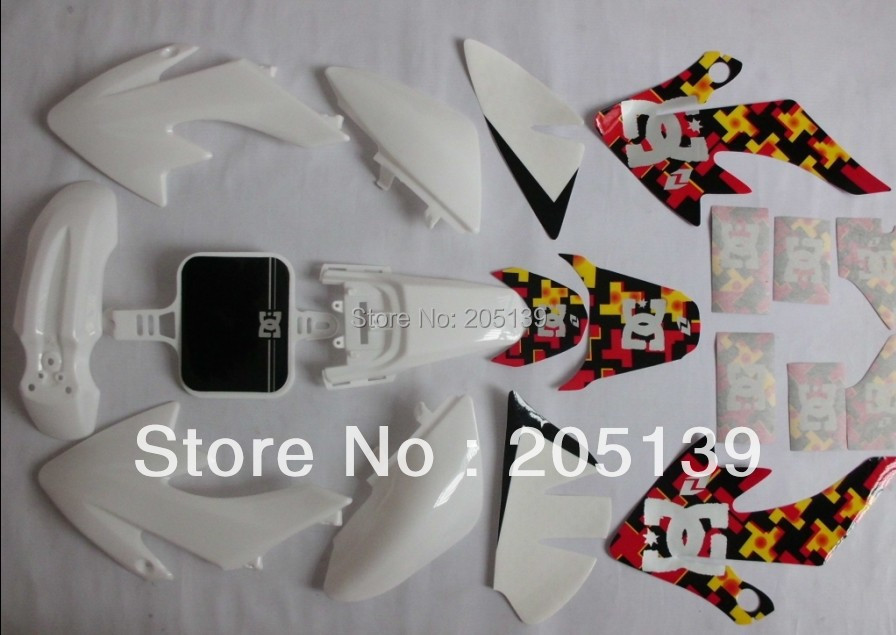 pitbike dirt bike CRF50 XR50 RACING PEGATINAS GRAPHICS sticker & PLASTIC FOR HONDA MOTORCYCLE image