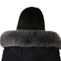FURART 2017 Fashion Fox Fur Lady Collar Collar 100 Natural Fox Fur Collar Winter Warm Shawl