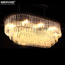 Rectangle Crystal Chandeliers Lighting Hanging Lamp Lustres for Restaurant Dining room Hotel Luminaires Crystal Lamp Lamparas traditional crystal chandeliers lighting gold palace light luxury hotel lamp for restaurant diameter40cm guaranteed100% 9052