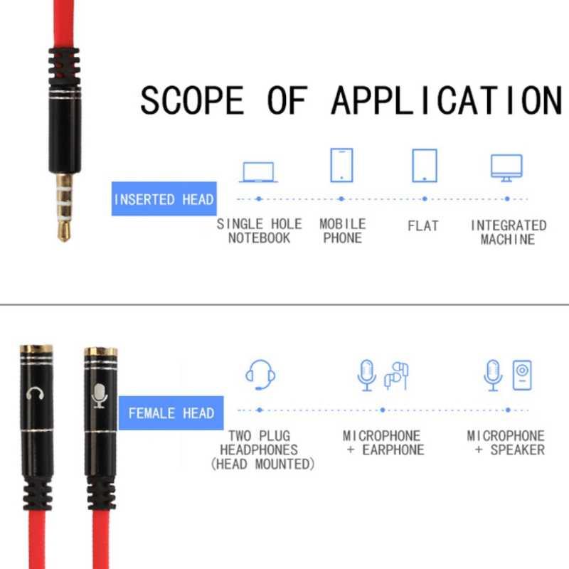 Jack 3,5 ММ Splitter адаптера Aux кабель для iPhone samsung MP3 плеер 3,5 мм штекер 2 Женский аудио сплиттер под наушники кабель