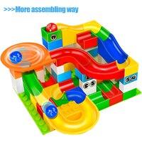 GOROCK Toys Funny DIY Race Run Track Colorful Construction Balls Rolling Track Big Size Building Blocks