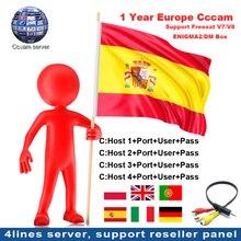 4 кнопки или 10 линий для спутникового приемника DVB-S2 1 год CCcam сервер hd для Испании Великобритания, Португалия, Польша Германия Европа CCCam панель