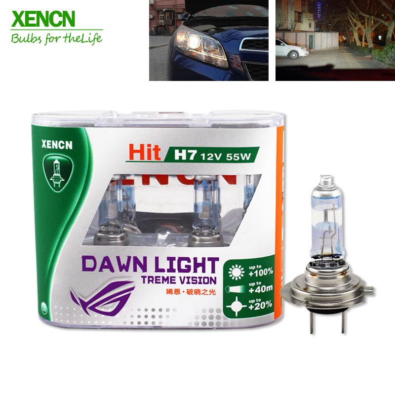 Prix pour XENCN h7 55 w 12 V 3800 K Lumière de L'aube x-treme Vision Phares De Voiture Allemagne Tech Halogène Auto ampoules Livraison Gratuite 2 PCS