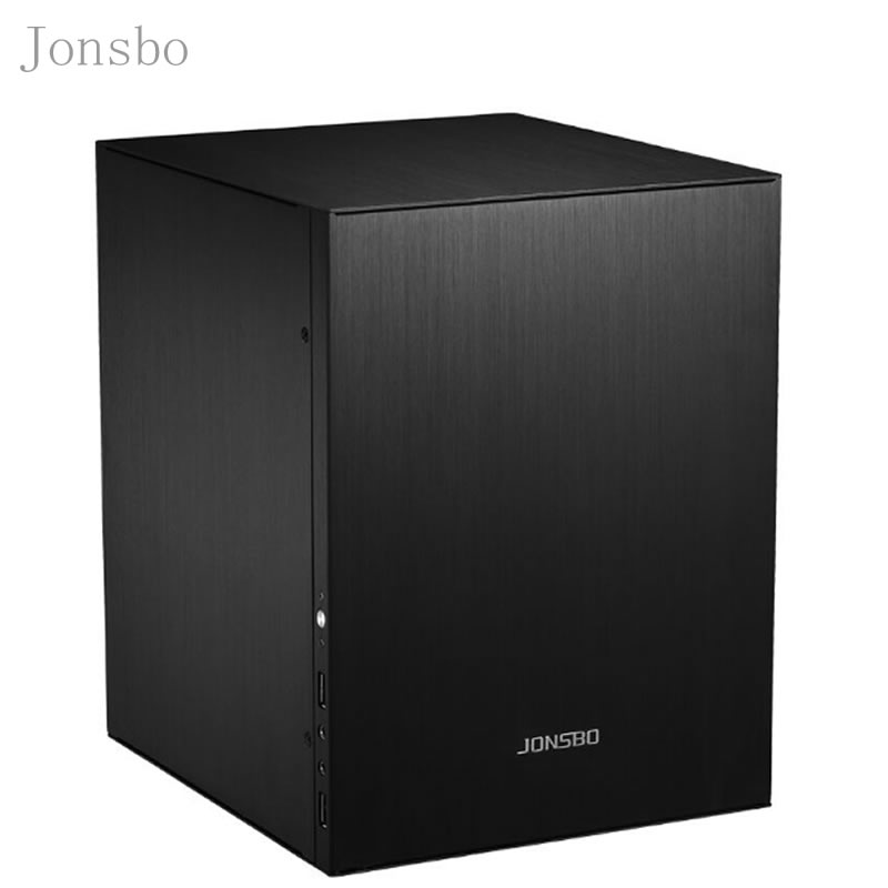 Jonsbo C2 Silver Aluminum Mini ITX MATX computer Case USB3.0  game small chassis  C2S Black HTPC ITX  support 3.5'' HDD USB3.0 H new small horizontal mini itx htpc chassis include power supply aluminum computer case