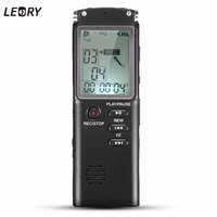 Portable 8GB LCD Digital Audio Voice Recorder Dictaphone Rechargeable MP3 Player With Earphone Built In Microphone