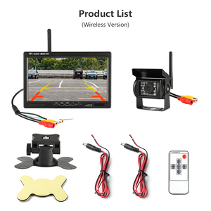 """Image 5 - Jansite 7"""" Wireless Car monitor TFT LCD Car Rear View Monitor Parking Rearview System for Backup Reverse Cameras Support Auto TV"""