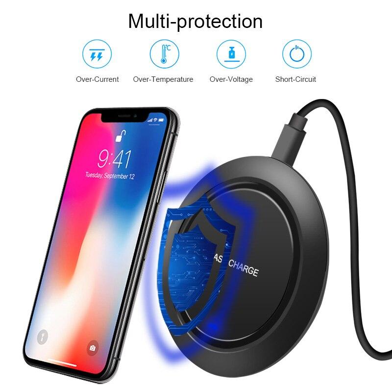 CinkeyPro trådlös laddningsladdning för iPhone 8 10 X Samsung S7 - Reservdelar och tillbehör för mobiltelefoner - Foto 3