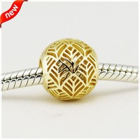 Fits PANDORA Bracelet Charms Beads for Jewelry Making Tropicana Openwork Charm Not Plated DIY Jewelry Gifts for Women