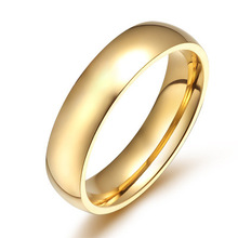 Korean Version of Male and Female Universal Ring Gold Glossy Fashion Titanium Steel