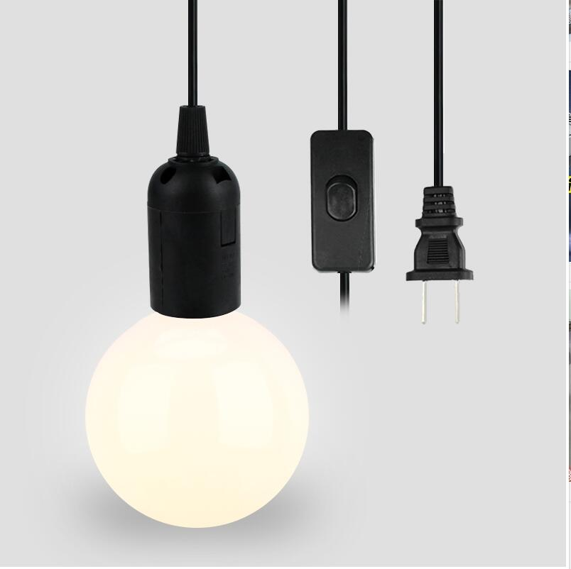 Without Bulbs EU/US Plug 1.8 Meters  Of E26 E27 Lamp Base Pendant Lighting Kit Pendant Light Fitting With On/Off Switch