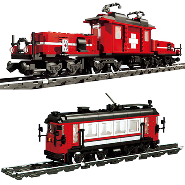 21011 1130Pcs Technic Series The Medical Changing Train Set Building Blocks Bricks Toys Compatible Legoings Train 10183 on the slow train again