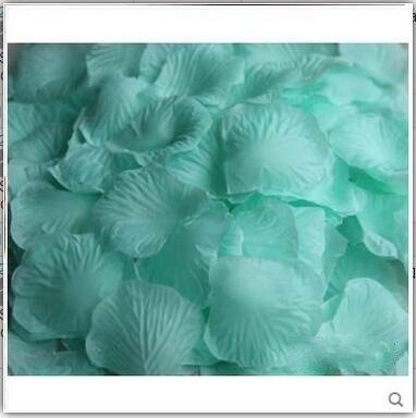 2000 шт. / партия 5* 5 см шелковые лепестки роз на свадьбу, Романтические искусственные лепестки роз Свадебные розы - Цвет: Tiffany Blue