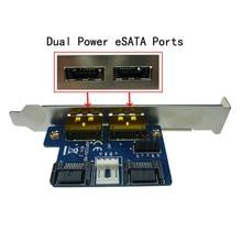 SATA для Питания eSATA Жесткий Диск для Настольных Пк Dual SATA для Питания eSATA Карты Расширения