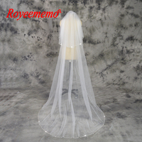 2 Meter beaded Edge Veil with Comb Wedding Veil free shipping