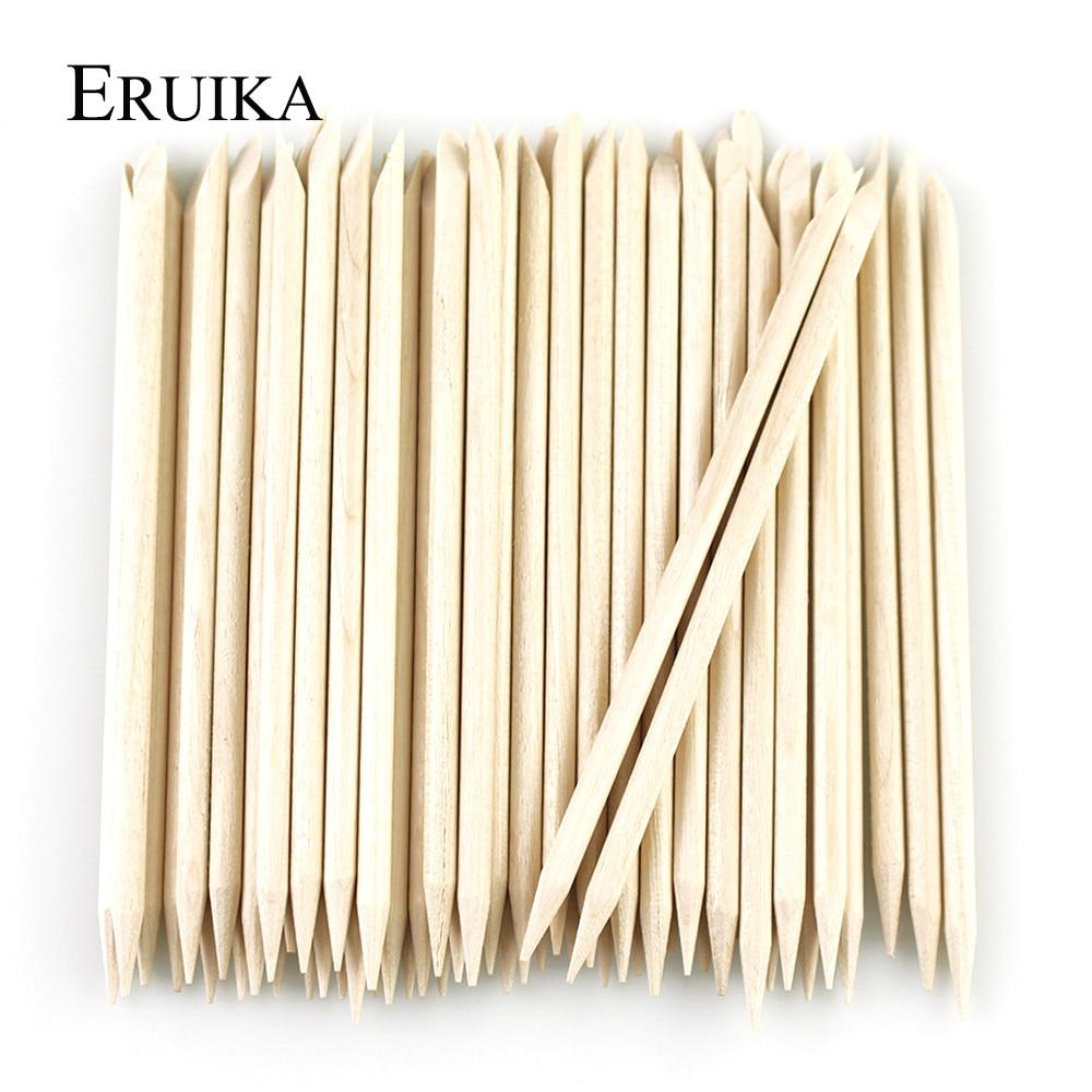 10/50/100pcs Orange Wood Sticks Wooden Cuticle Pusher Nail Cuticle Remover Manicure Pedicure Nail Salon Cuticle Tools