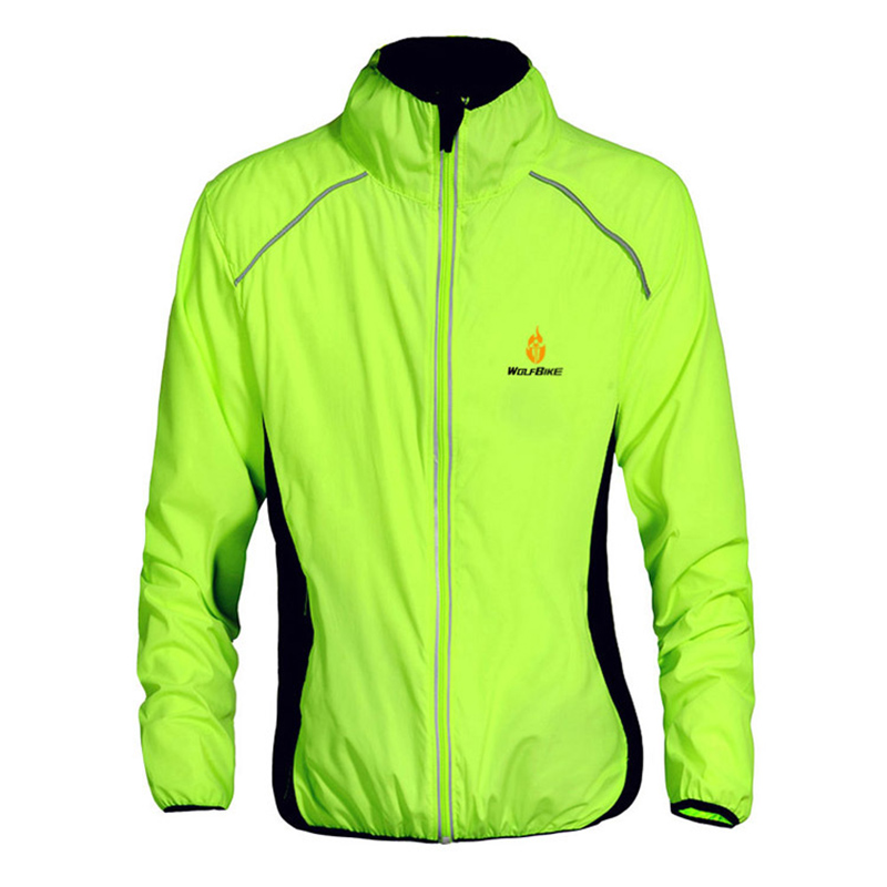 5 Colors WOLFBIKE Brand Breathable Cycling Jacket Men Women Quick-dry Riding Jacket Cycling Clothing Bike Long Sleeve Wind Coat