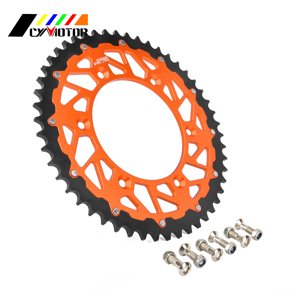 Motorcycle Rear Sprocket For KTM EXC EXE SX XCW MXC SXS XC EXCF SXF XCF XCFW LC4 125 144 150 200 250 300 350 380 400 450 520 525