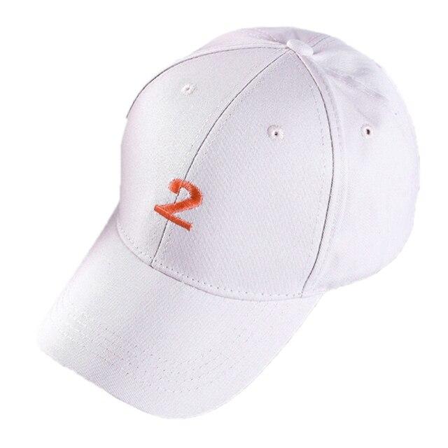 Nueva gorra de béisbol Bordado number 2 sombreros unisex hip hop estilo  SnapBack ajustable sombrero de 9bf12c1c46b