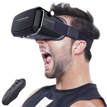 VR Shinecon 1.0 Virtual Reality Glasses helmet VR Box 3D Glasses Headset Cardboard For 4.7-6.0 inch with Bluetoot Remote Control