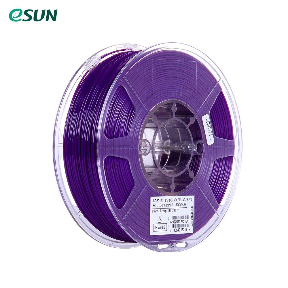 PETG 3D Printer Filament eSUN 1 75mm 3D Printer Filament 1kg 2 2lb Spool Material Refills