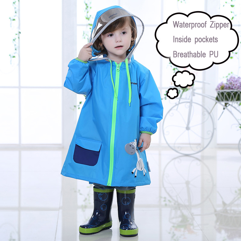 Waterproof Kids Raincoat Child Boys Casaco Feminino Travel Cloak Rain Coat Backpack For Children Raincoat Poncho Lluvia QQG197 waterproof raincoat kids children boys long cute poncho lluvia mujer girls raincoat impermeable backpack rain cover ddg48y