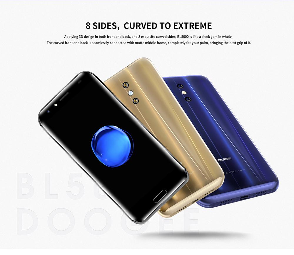 АОП BL5000 двойная камера 13.0 MP Андроид 7.0 5050mAh 12V2A быстрая зарядка 5.5'' емкостный MTK6750T Окта основные 4Gb оперативной памяти 64 Гб ROM смартфон