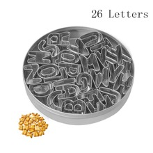 26 Letter Design Stainless Steel Cookie Cutter LOVE Shape Forms For Biscuit Mold Bakeware Pastry Confectionery Tools