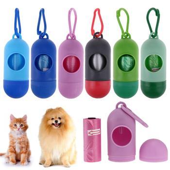 Pille Knochen Form Pet Hund Poop Tasche Spender Abfall Müll Taschen Träger Halter Dispenser für hunde Pet Poop Hund Abfall veranstalter