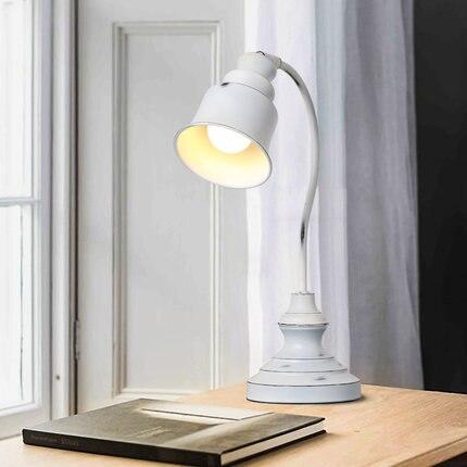 Işıklar ve Aydınlatma'ten LED Masa Lambaları'de Yeni İskandinav Tarzı Sıkıntılı Beyaz Başucu Masa Lambası Retro Çalışma Oturma Odası Kahve Dükkanı Yatak Odası Otel masa lambaları title=