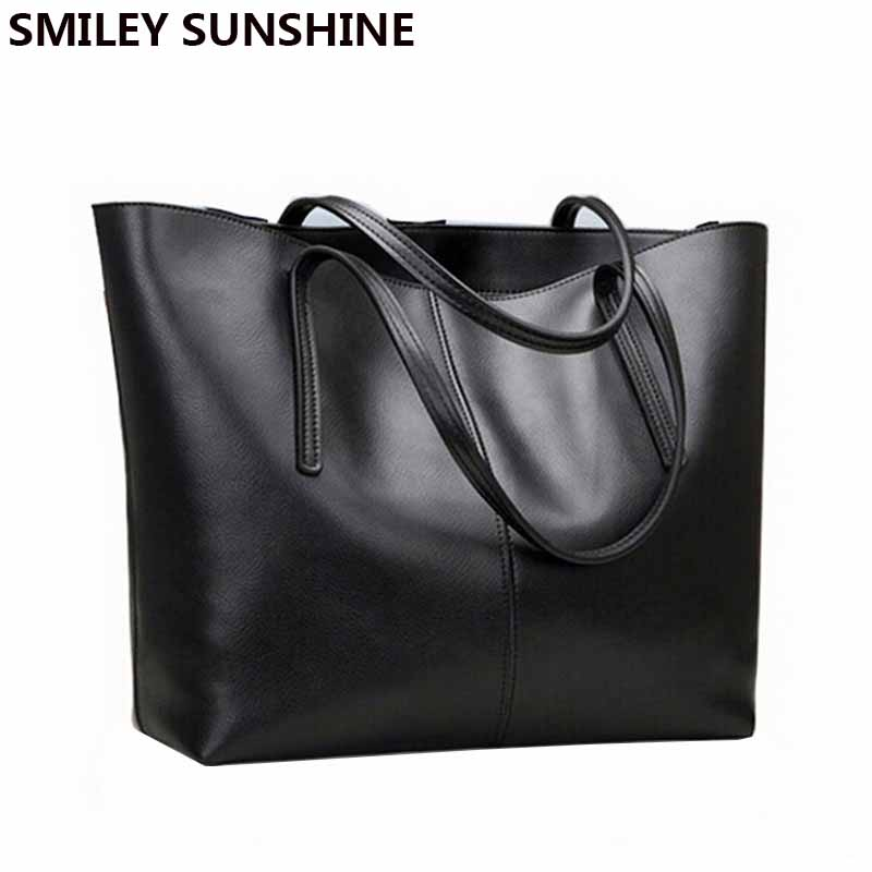 SMILEY SUNSHINE fashion women leather handbags female genuine leather shoulder bags ladies luxury purses and handbags