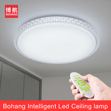ФОТО new modern led ceiling light 2.4g rf remote group controlled dimmable color changing lamp for livingroom bedroom 60w 170v-265