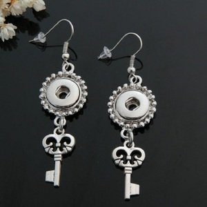 Image 4 - 10 pairs womens interchangeable 12mm DIY Charm mini snap on button jewelry earrings