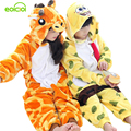 Children's pajamas for girls kids giraffe onesie boys christmas Warm Winter animal hoodie pajamas boys sleepwear for girl