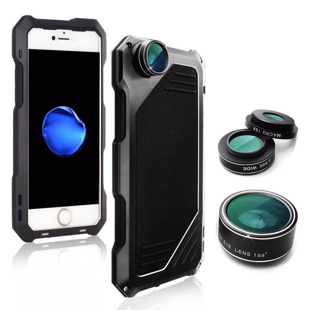Hybrid Shockproof Phone Case+ Camera Lens Kit Photograph Cases 1