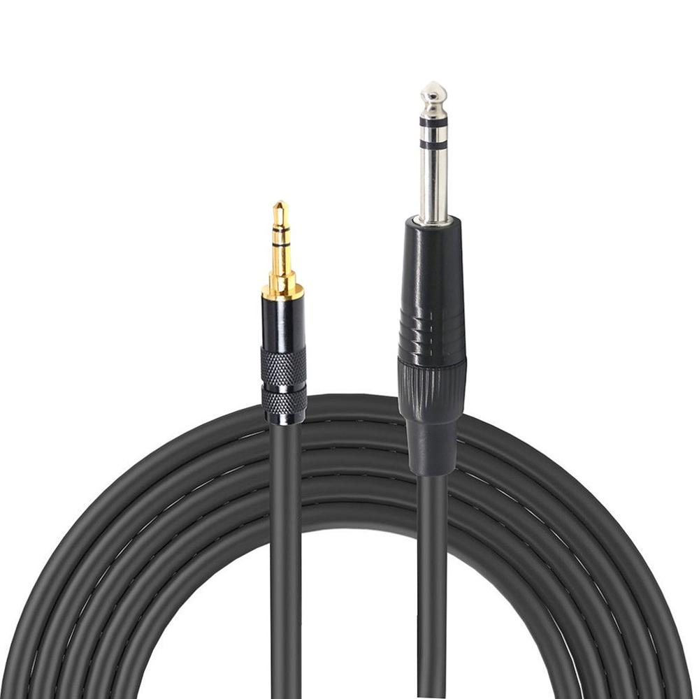 3.5mm <font><b>to</b></font> 6.35mm <font><b>Adapter</b></font> Aux Cable for Mixer Amplifier CD Player Speaker <font><b>3.5</b></font> Jack <font><b>to</b></font> <font><b>6.5</b></font> Jack Male Audio Cable 1m/1.5m/2m image