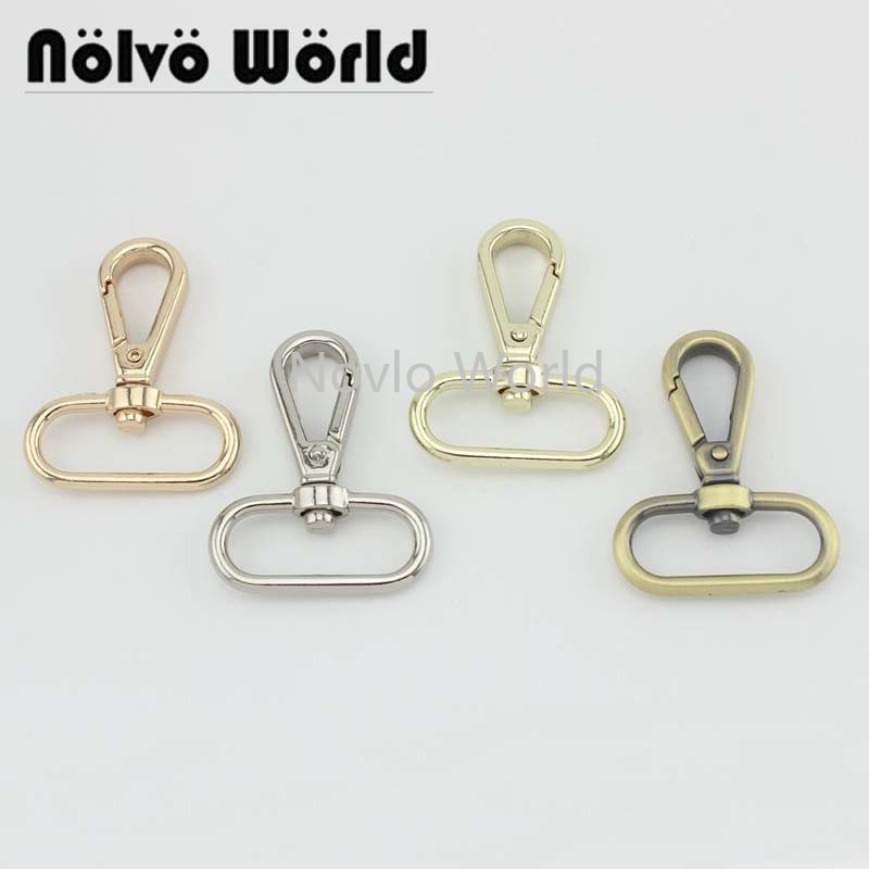 "6pieces test,35*32mm 1-1/4"" small quantity bags purse accessories, suitcase or handbag strap chain swivel clasps()"